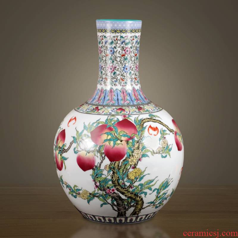 Jingdezhen ceramic antique hand - made vases furnishing articles sitting room flower arranging new Chinese style household adornment porcelain arts and crafts
