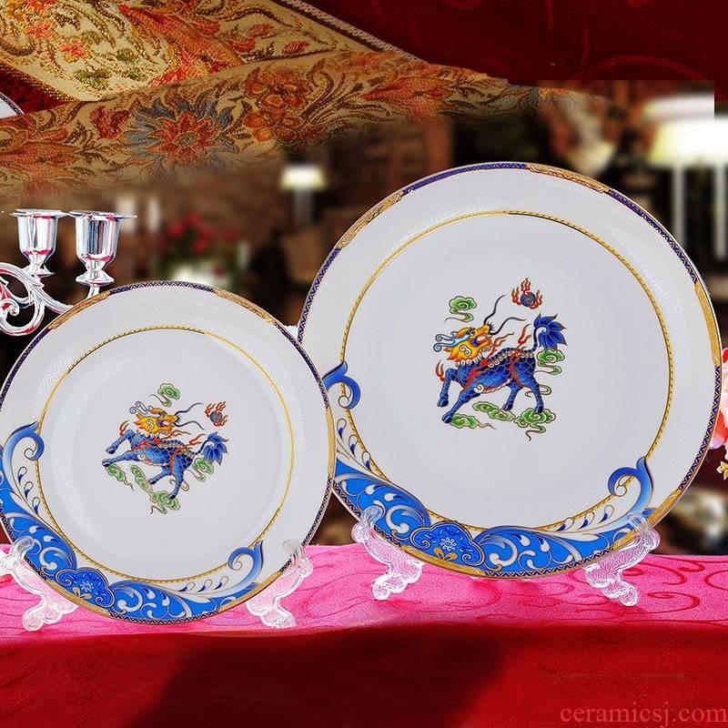 Qiao mu dishes suit 58 head up phnom penh ipads porcelain of jingdezhen ceramics tableware suit household combination dishes chopsticks