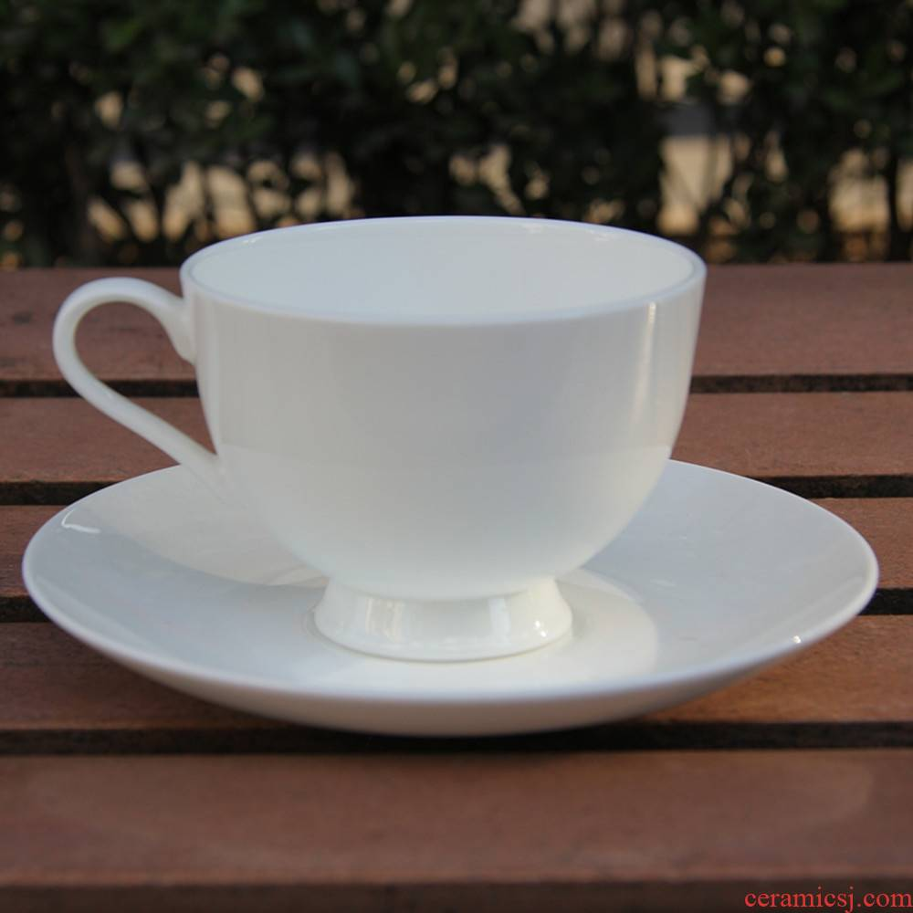 Qiao mu tangshan ipads China continental pure white coffee cups and saucers suit admiralty cups and saucers English - style afternoon tea cup of red tea cups