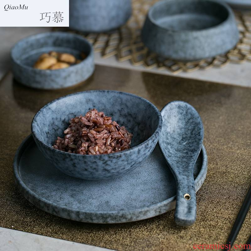 Qiao mu ceramic tableware steak creative rainbow such as bowl flavour dish of sauce dish dish bowl plates spoons cup home