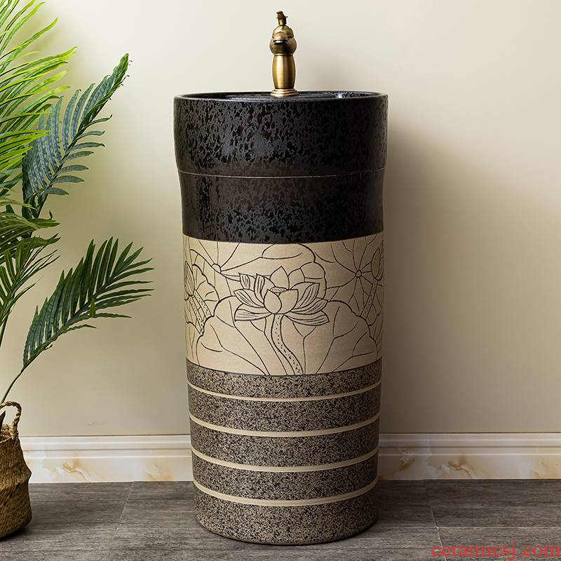Basin of pillar type lavatory balcony column restoring ancient ways of household ceramic floor type of toilet stage Basin sink