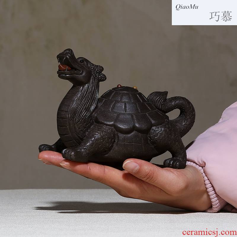 Qiao mu, yixing purple sand tea by hand pet ideas purple clay its tea taking surrounding furnishing articles tea play dragon turtle