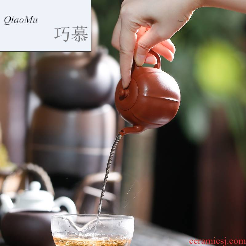 Qiao MuChan melons are it by hand for manual zhu mud yixing undressed ore quality teapot S26039