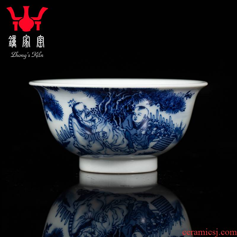 Clock at jingdezhen up maintain master cup pure hand draw archaize characters of ceramic kung fu tea master single CPU