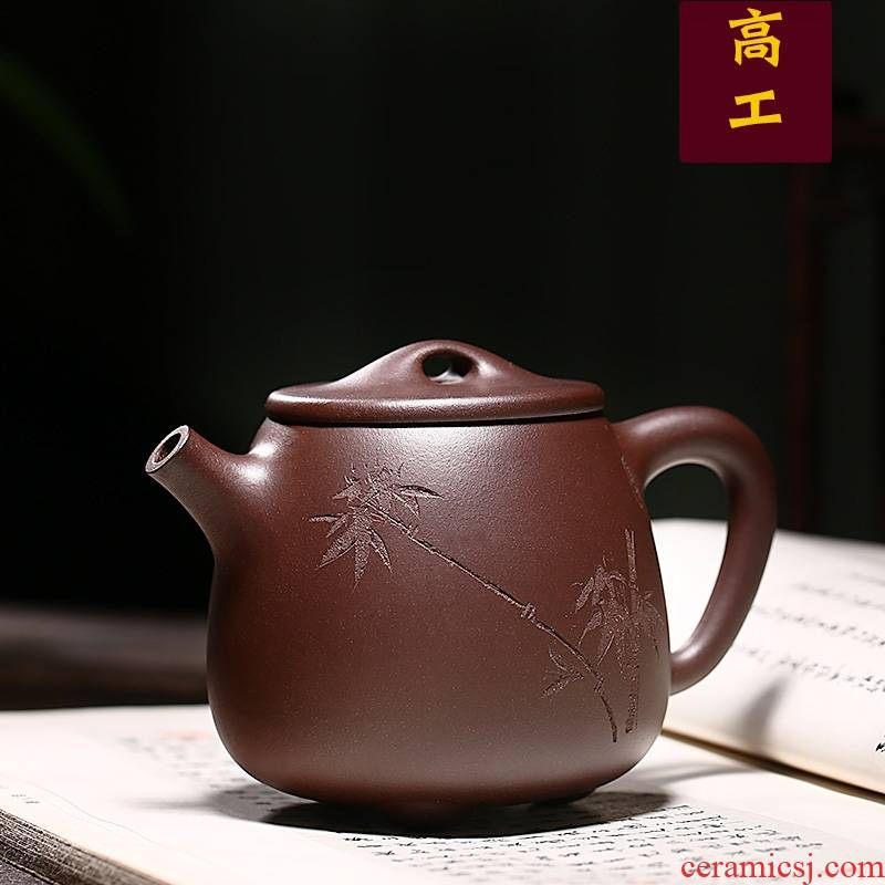 Qiao mu YM authentic yixing undressed ore ceramic tea pot - famous pure checking make tea with kaolinite gourd ladle