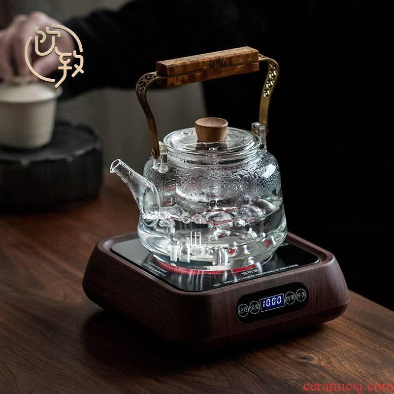 Ultimately responds to Pyrex cooking pot teapot transparent girder pot of large capacity electric TaoLu kettle boil tea ware