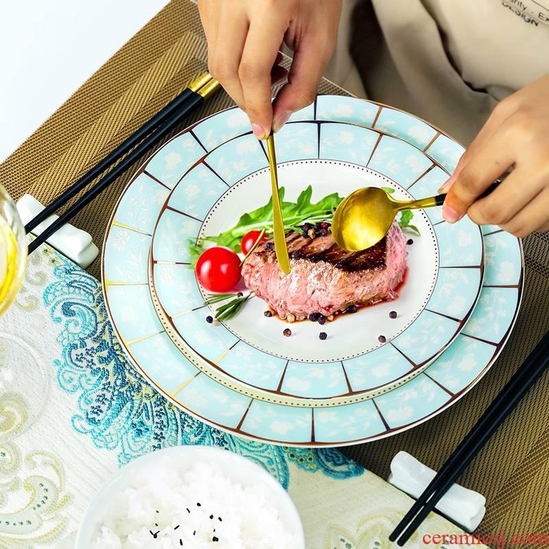 Qiao mu dishes suit household ipads porcelain of jingdezhen ceramics tableware Chinese eat dishes bowls bowl chopsticks