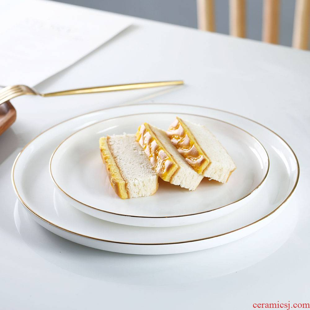 The beatles SaPan household flat ceramic plate dish plate dessert plate snack plate of pasta dish beefsteak cake plate