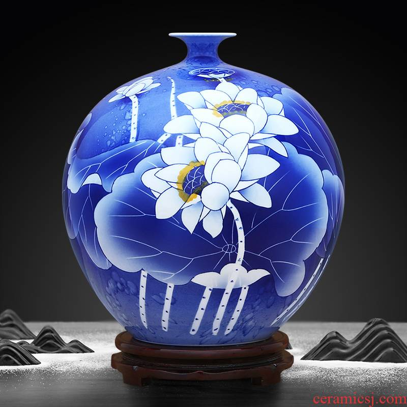 Over the color blue and white pomegranate bottles to industry