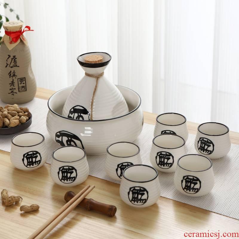 Ceramic wine suits for Japanese wine liquor cup tell little hip hip liquor a kilo small glass box