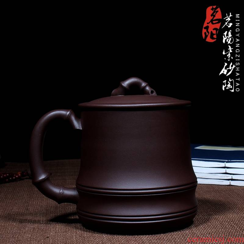 Qiao mu MY yixing purple sand cup all checking craft masters boutique tea cups with cover cup cup kung fu tea set