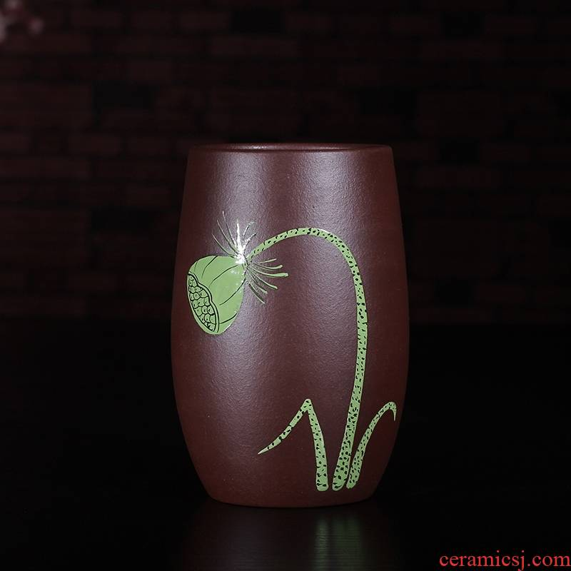 Qiao mu JS hand purple sand sample tea cup small single cup cup bowl pu 'er individual CPU master cup kung fu tea cups