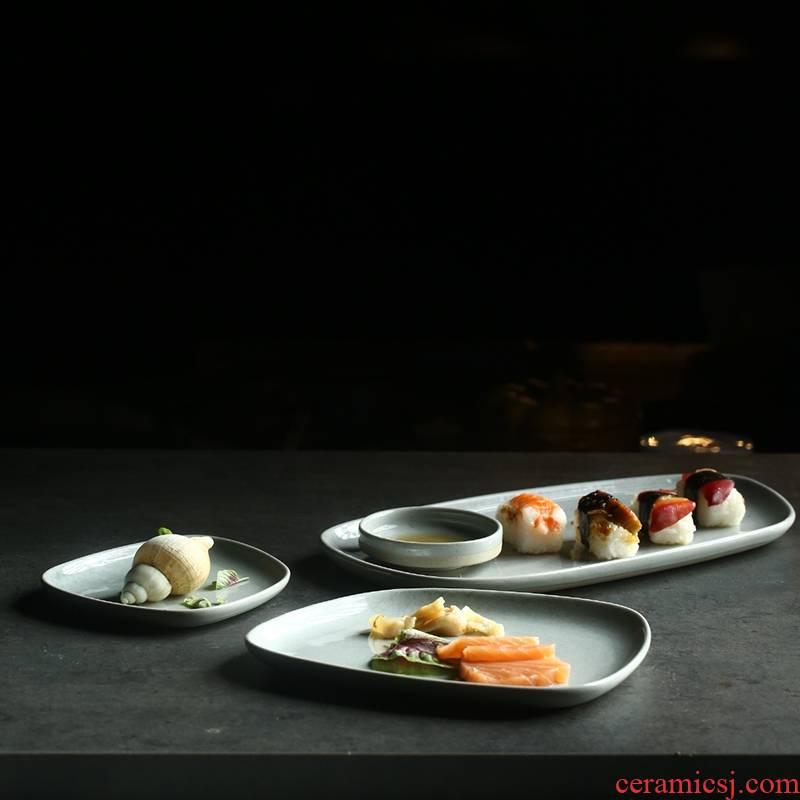 Qiao mu DY creative profiled shire ceramic plate household vegetable dish breakfast dish restaurant tableware plate of beefsteak