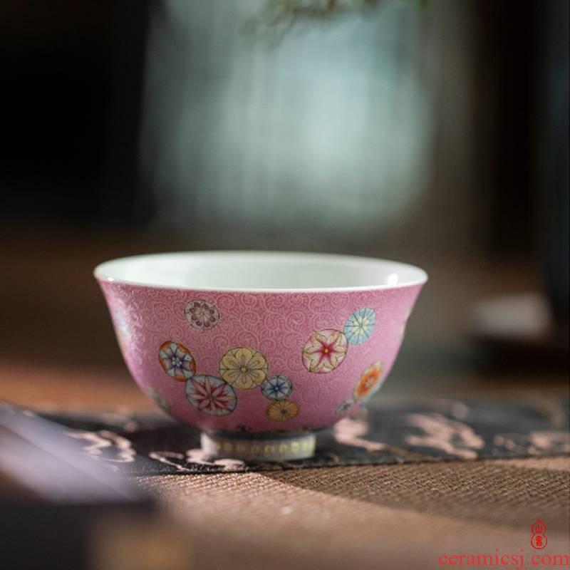 The ball pressure hand art circles don powder dust cup jingdezhen manual master cup kung fu tea cups sample tea cup