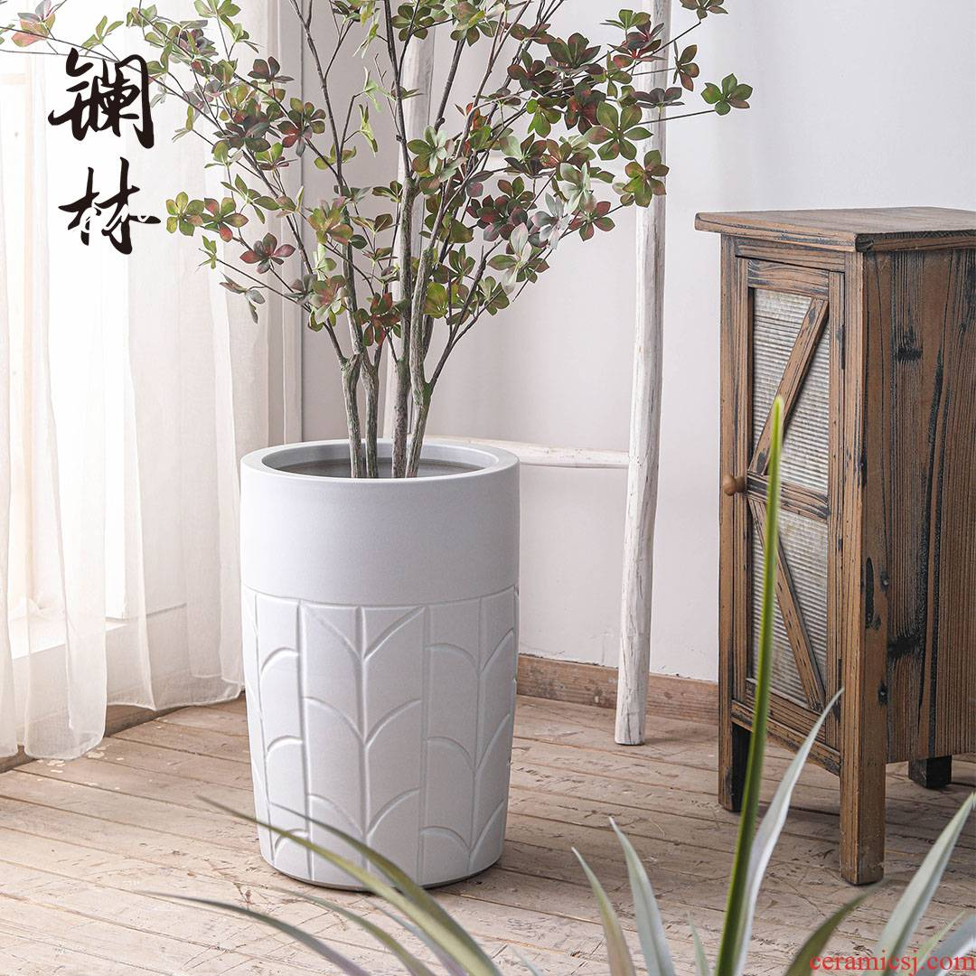 The Nordic I and contracted wind indoor green plant ceramic flower pot sitting room to The balcony is suing potted large can be customized to plant trees