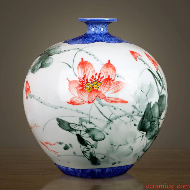 Jingdezhen ceramics new Chinese hand - made of blue and white porcelain vase furnishing articles home sitting room ark adornment handicraft