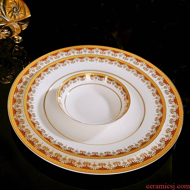 Qiao mu dishes suit of jingdezhen ceramics home up phnom penh dish dish European contracted creative ipads porcelain tableware