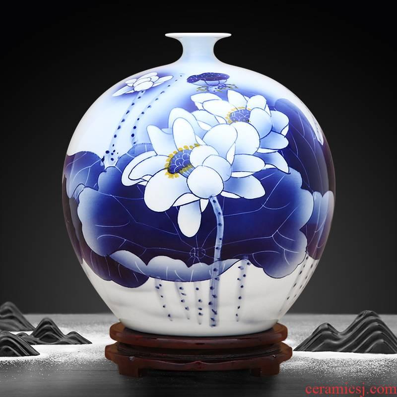 Hand - made porcelain of jingdezhen ceramics vase jasper scent pomegranate bottles of Chinese style household high - grade mesa furnishing articles