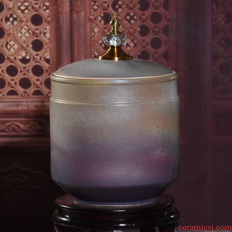 Zhuo arts of jingdezhen ceramic small storage jar of pu 'er tea cake barrel nut peanut snack jars