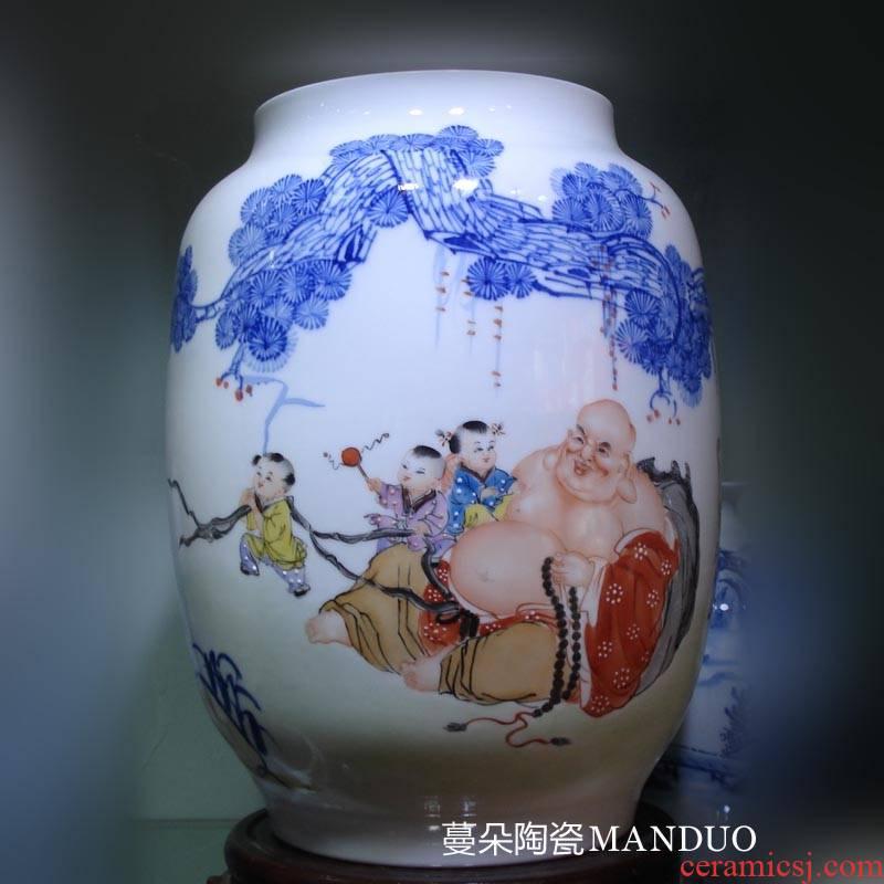 Hand - made live long and proper ocean 's porcelain vases ha ha tong qu porcelain vases display auspicious porcelain vase