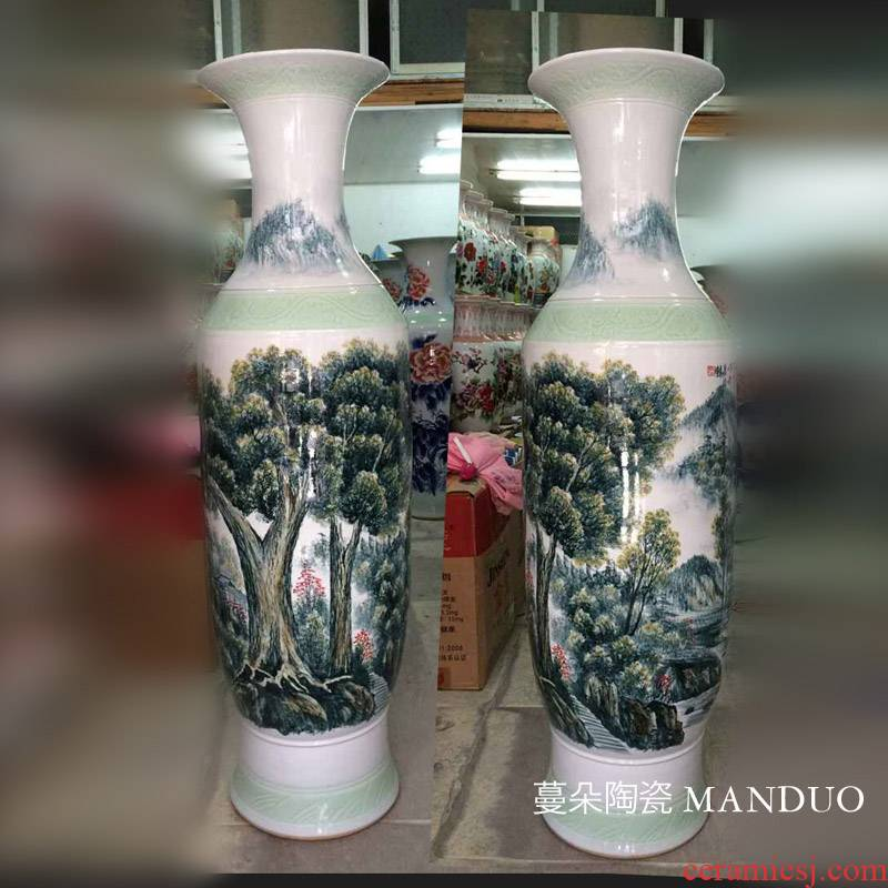 Yingbin big vase jingdezhen jingdezhen ceramic lucky tree and the tree sitting room hall lucky tree vase