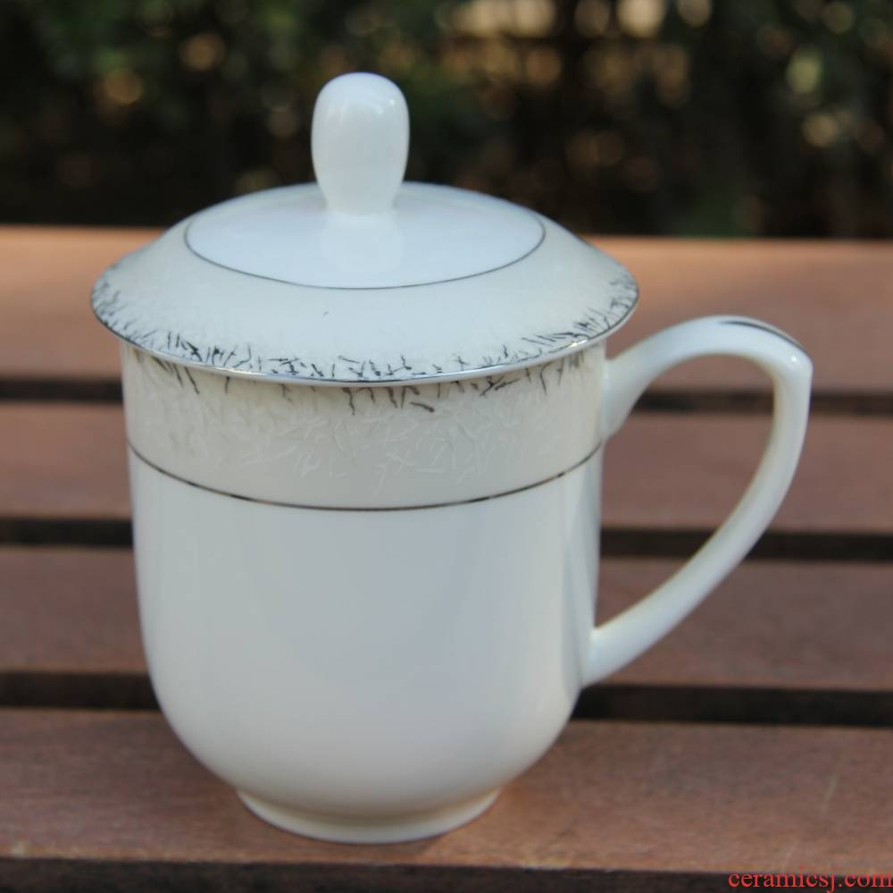Qiao mu tangshan ipads China silver side cover cup cup meeting office cup water in a cup of milk cup keller cup for breakfast