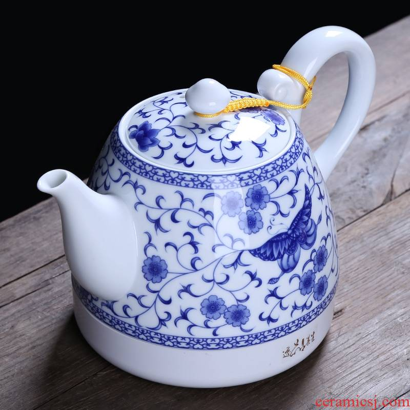 Qiao mu ceramic kettle electric kettle electric teapot curing pot insulation power automatic water blue and white porcelain teapot
