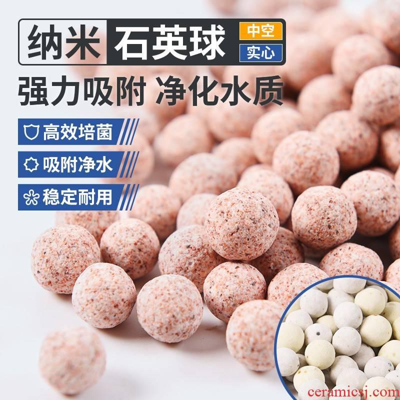 Fish tank water purification filter material of nanometer hollow Shi Yingqiu nitrifying bacteria house aquatic bacteria culture and biochemical ball ceramic ring