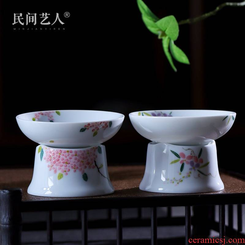 Hand - made under the glaze color filter) tea jingdezhen ceramic tea filter kung fu tea with parts by Hand