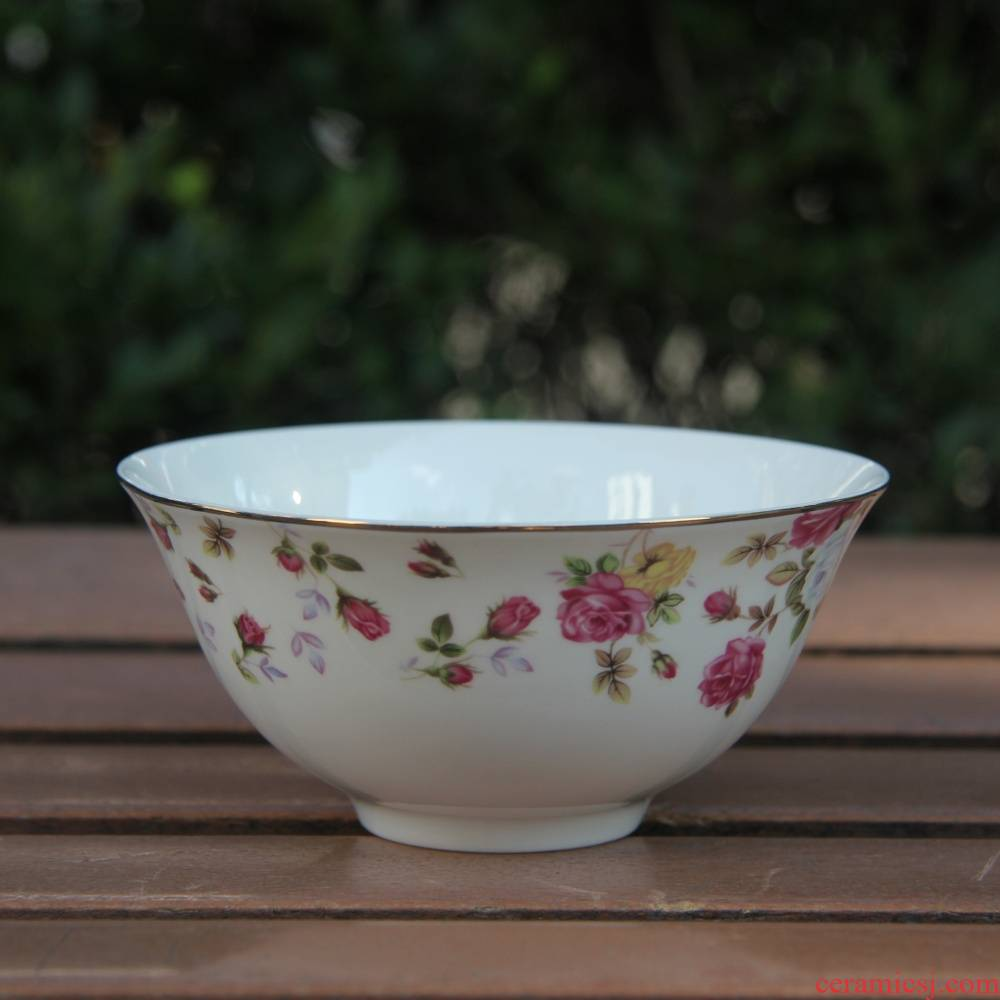 """Qiao mu tangshan ipads porcelain two - tonne 5 """"excessive penetration bowl of rice, a bowl of such soup bowl up phnom penh Korean bowl of chaos"""