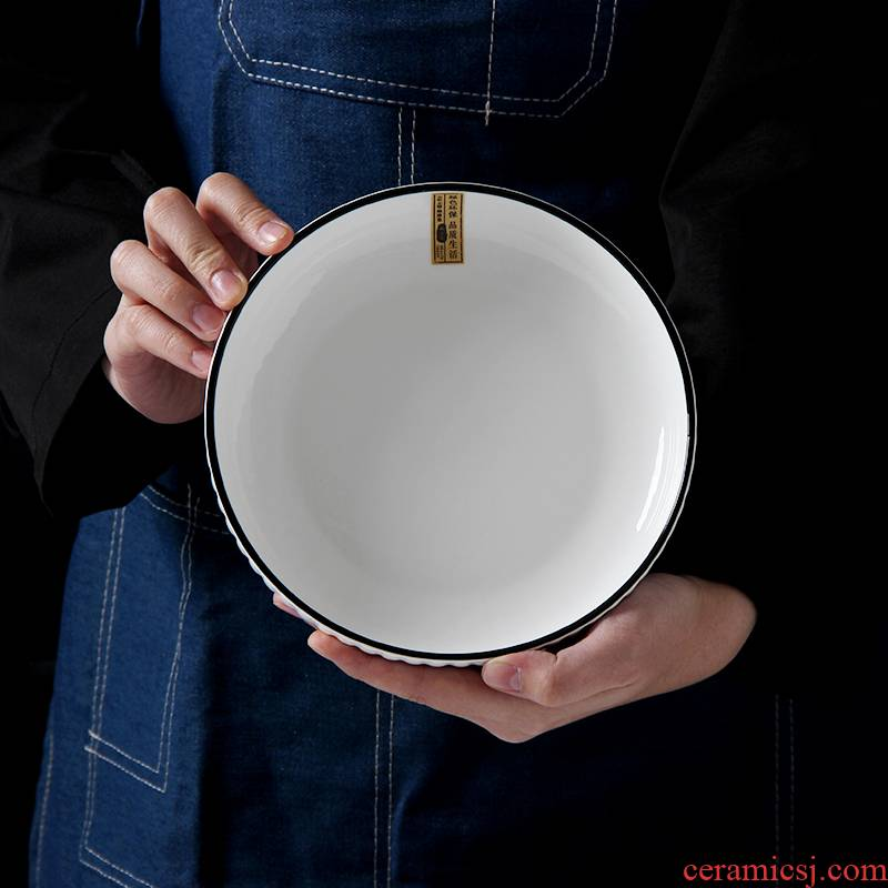 4 pack Nordic creative ceramic dish dish plate web celebrity ins contracted wind breakfast tray dish dish household move