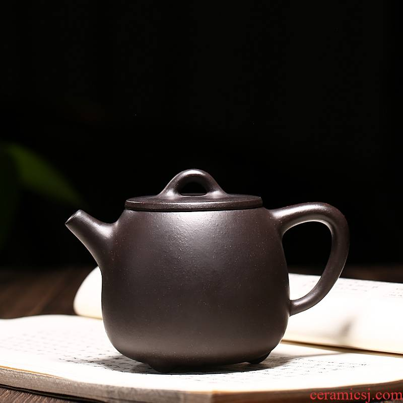 Qiao mu YM yixing ores are it by the manual teapot tea black gold sand kaolinite gourd ladle