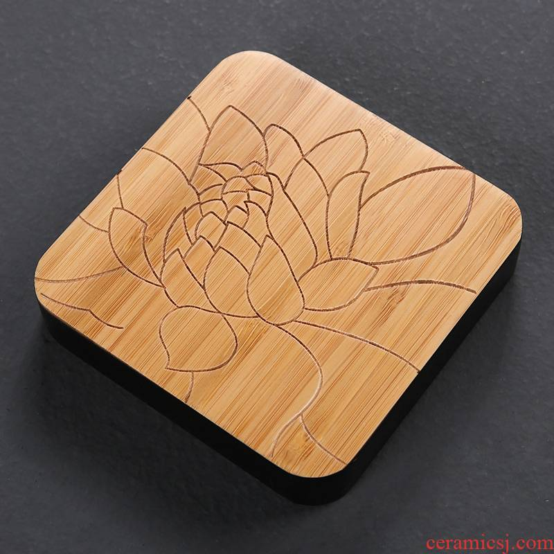 Ebony wood have round tea pot holder base bearing cup mat purple sand teapot teacup pad lotus pads spare parts for the tea taking