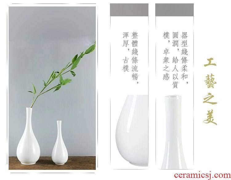 Net bottle jade bottle flower flower implement gall bladder small pure and fresh and furnishing articles for ceramic Chinese tea taking before Buddha zen vase.