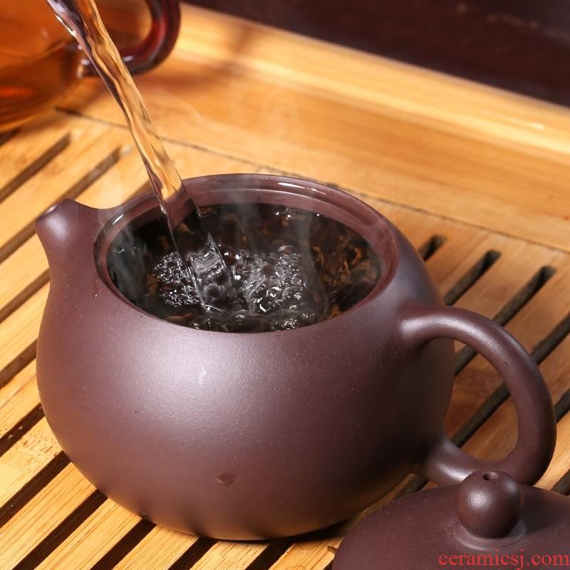 Qiao mu YH yixing it xi shi pot of kung fu tea ball hole ore all hand card cover the design of the teapot