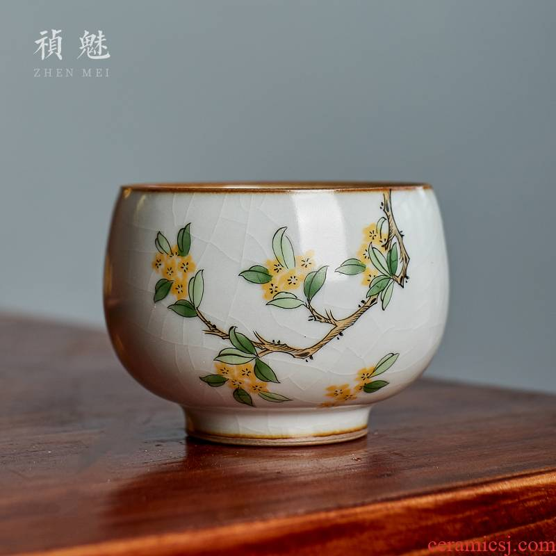 Shot incarnate your up hand - made osmanthus tea cups of jingdezhen ceramic kung fu tea set personal sample tea cup master cup single CPU
