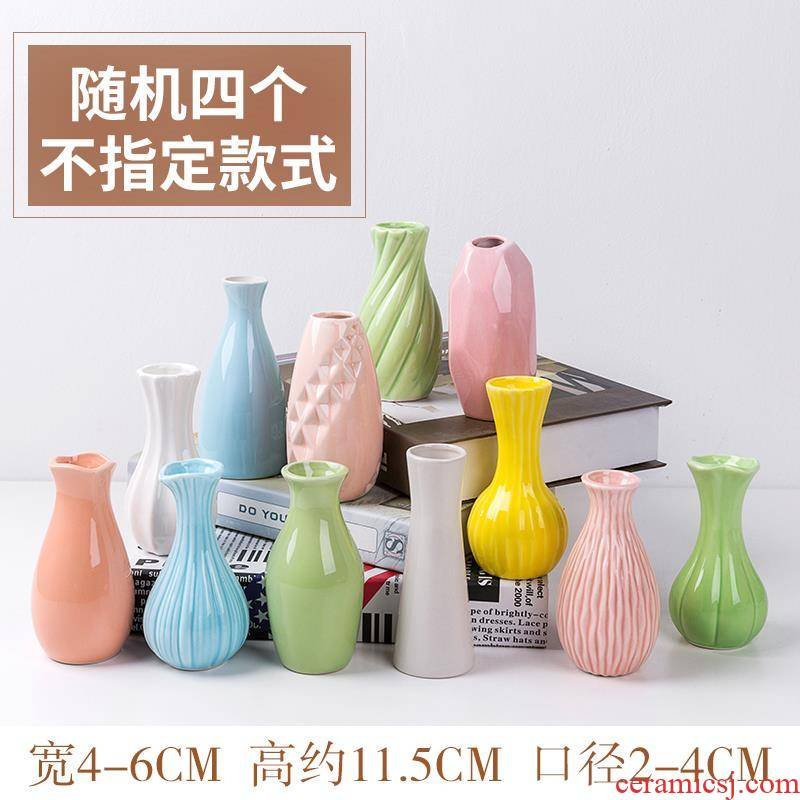 The Hydroponic floret bottle furnishing articles household decorates sitting room European - style flower arranging dried flower vases, small and pure and fresh batch of glass ceramics