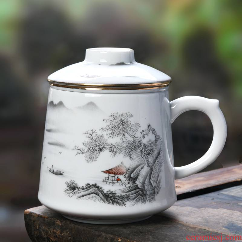 Water separation office ceramic cups special masters cup and meeting room real estate bank personal business gifts