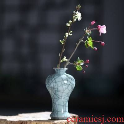 Creative zen tea taking about retro decoration household ceramic bottle desktop sitting room of Chinese style tea art small place