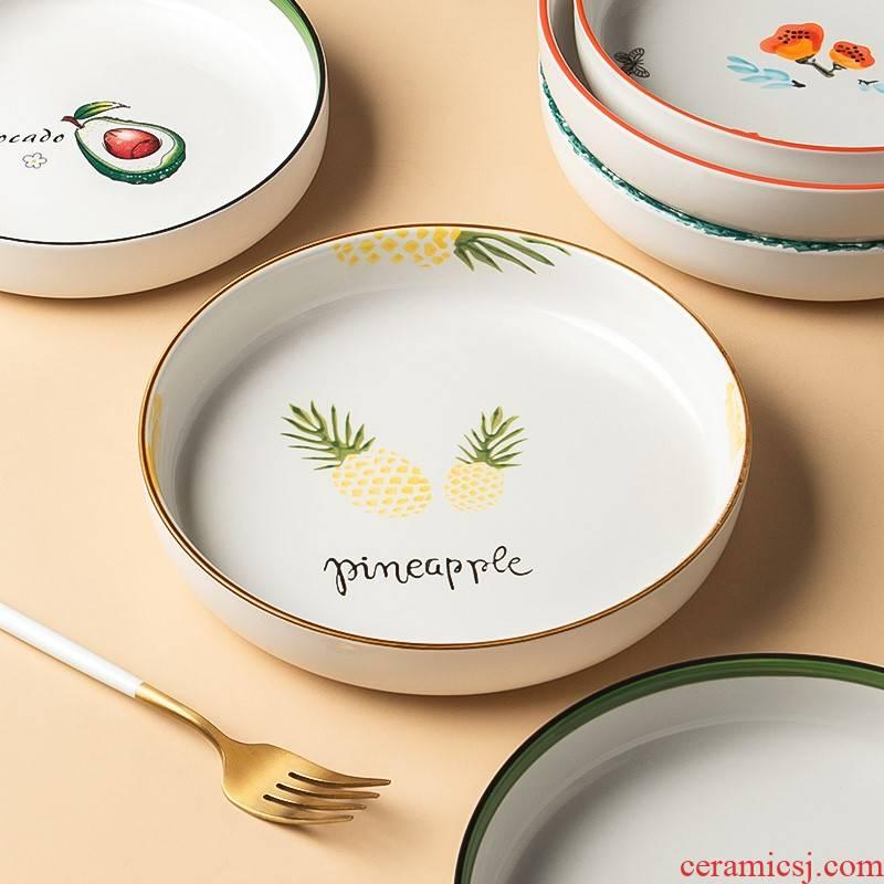 Inky ceramic dish dish dish 2021 new creative microwave special dish home web celebrity deep dish dish dish