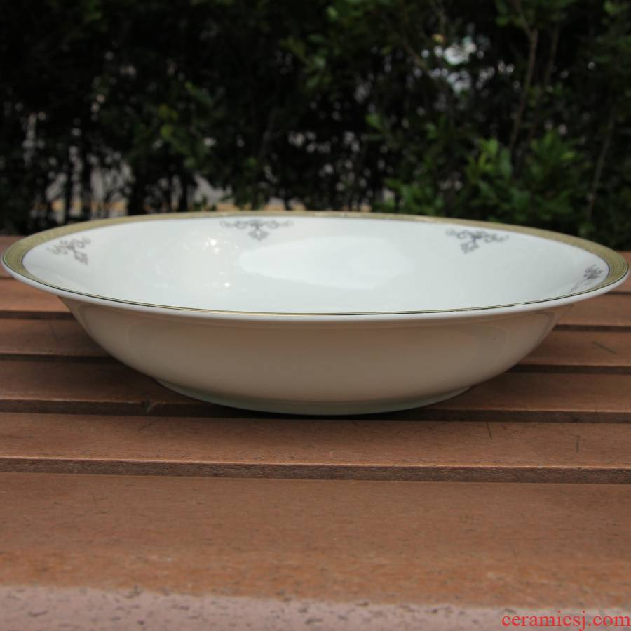 Qiao mu tangshan ipads China royal feast - 10 inch bao wing plate hot soup plate plate FanPan up phnom penh ipads porcelain ipads porcelain tableware