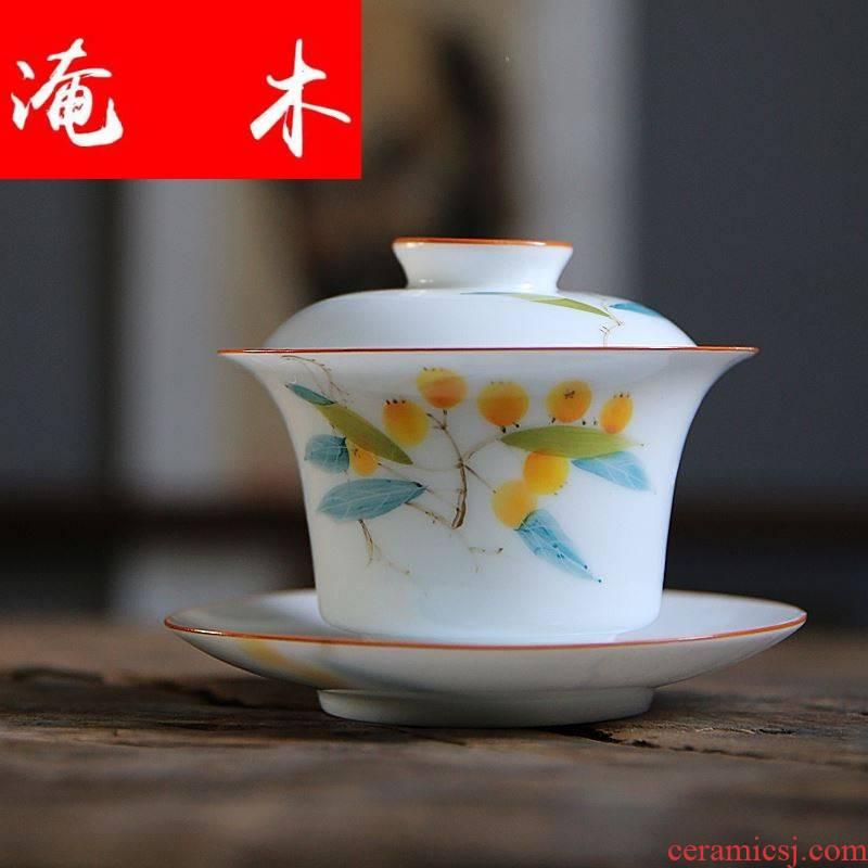 Submerged wood jingdezhen three mercifully kung fu home against hot big three have had been under the glaze enamel loquat tureen tea sets