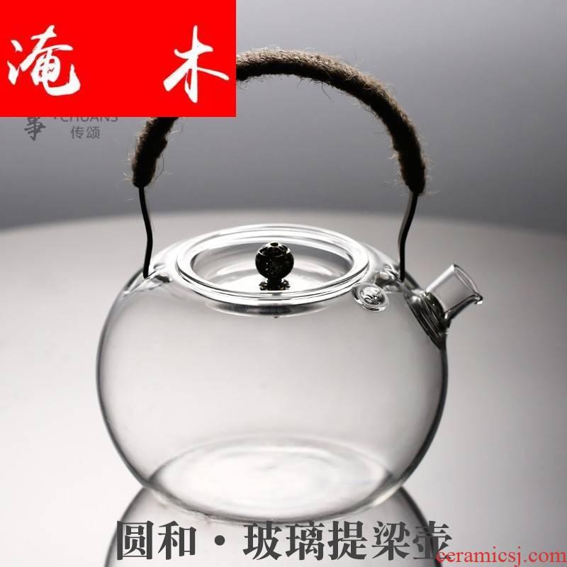 Flooded wooden Japanese girder pot glass heat - resistant high - temperature electric TaoLu make tea kettle boil tea, kungfu tea set straight the fire