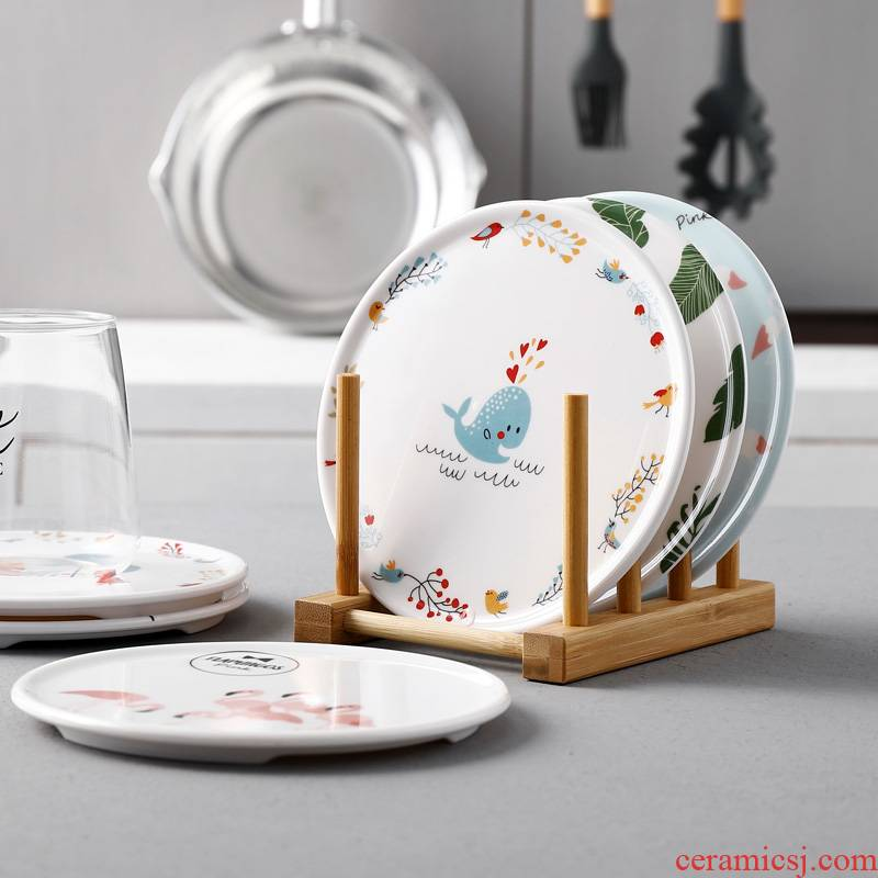 Multi - disc pack Nordic melamine insulation pad table hot domestic imitation bowls mat plate MATS waterproof cup mat pot pad