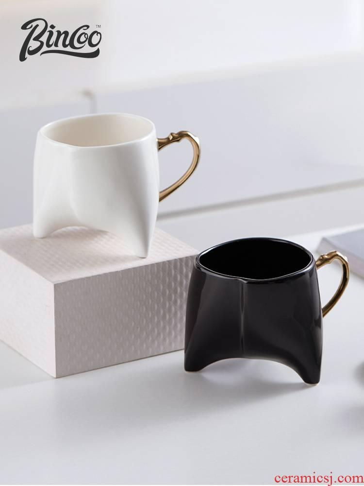 Bincoo triangle honey hip high - grade ipads China porcelain coffee cup European modern creative contracted empresa feeling ins