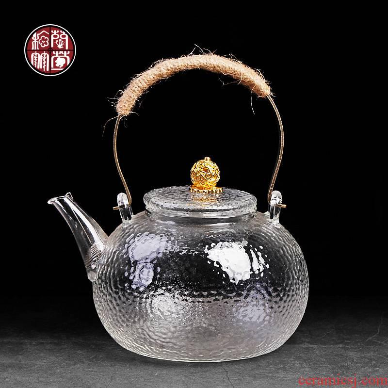 Special glass tea kettle electric household electrical TaoLu transparent single flat high borosilicate boiling kettle with tea sets