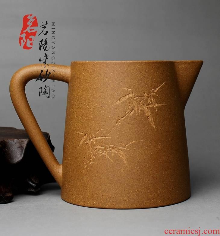 Qiao mu MY yixing purple sand of glass ceramic fair keller points tea tea sea kung fu tea set manually lettering to hide