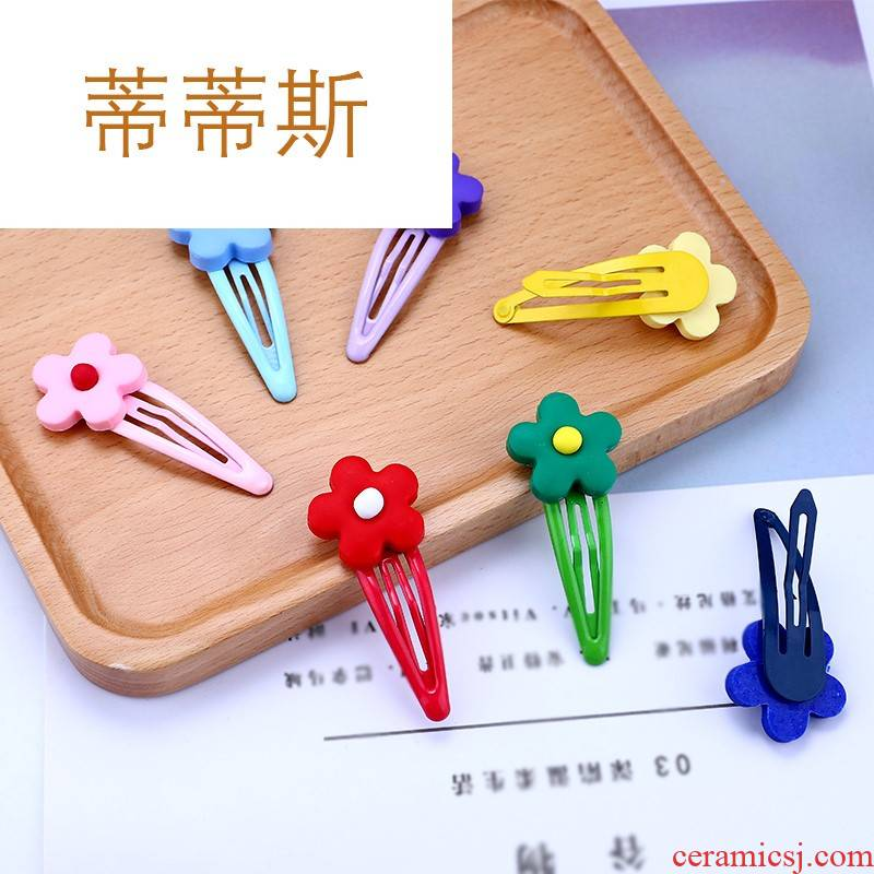 Butterfly love jade ins Xuan ya tong qu wind flowers BB lovely soft TaoXiaoHua clip hairpin Liu Haibian clip, Japan and South Chesapeake