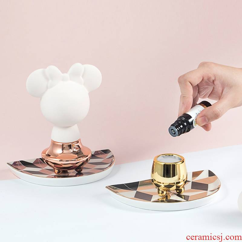 Good nest ceramic aromatherapy furnishing articles box suit sitting room bedroom sweet atmosphere oil expansion getting gift of birthday with hand