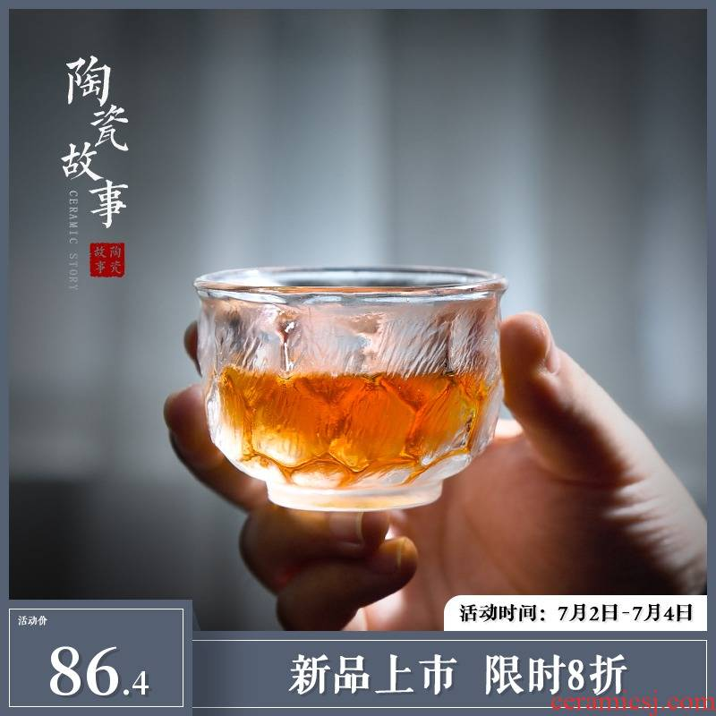 Coloured glaze ceramic story master cup single CPU getting move cups Japanese tea frozen high - grade sample tea cup